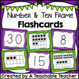 Number & Ten Frame Flashcards {1 to 30}