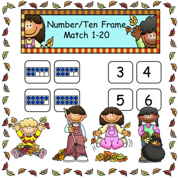 Subitizing with Ten Frame Match 1-20
