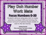 Number & Ten Frame Play Doh (or Dry Erase) Work Mats {Focus Numbers 0-30}