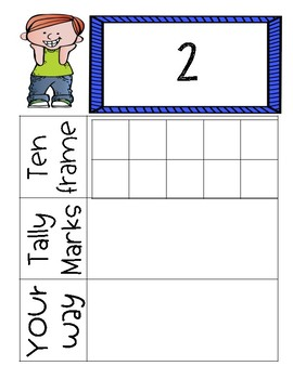 Number: Ten Frame, Tally, Your Way Center Activity Cards