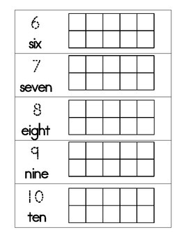 Number Ten Frames Activity