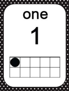 Number Ten Frames to 20 - Polka Dots in Black