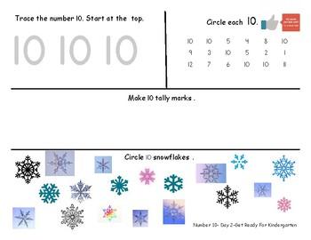 Number Ten Worksheet Pack