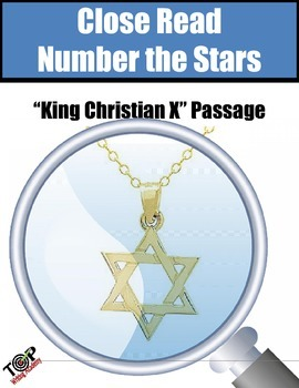 """Number The Stars Close Reading Exercise """"King Christian X"""""""