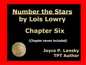 Number The Stars Literary Unit for Chapters 6 & 7 on Promethean Board