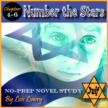 Number The Stars Novel Study /  Chapters 4-6 / Editable / Answer Keys