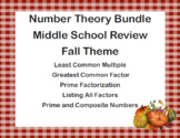 Number Theory Bundle-Middle School Review-Fall Theme