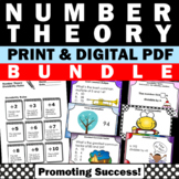 Number Theory, LCM and GCF, Divisibility Rules, Prime Factorization BUNDLE