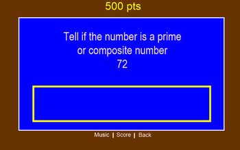 Number Theory Jeopardy- editable