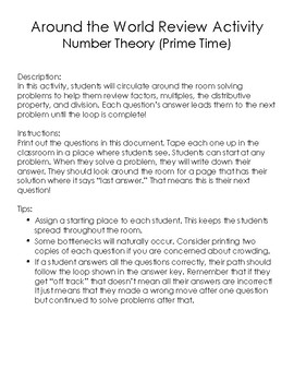 Number Theory (Prime Time) Around the World Review