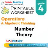 Number Theory Printable Worksheet, Grade 4