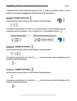 Number Theory: Simplifying Fractions - Greatest Common Factor and Prime Factors