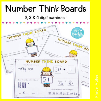 Number Think Boards (2, 3, 4 digit numbers)