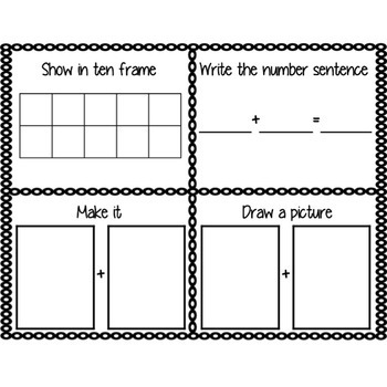 Number Think Mat (counting, addition & subtraction)