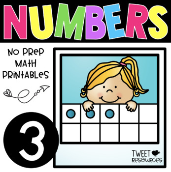 All About the NUMBER THREE ~ NO PREP Kindergarten Math Printables
