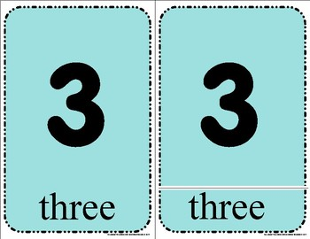 Number - Three Part Cards