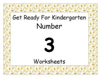 Number Three Worksheet Pack