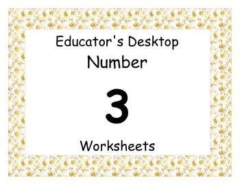 Number Three Worksheet packet