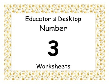 Number Three Worksheet packet