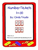 Number  Tickets/Cards 1 to 30