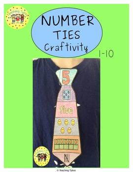 Numbers 1-10 Craftivity Ties