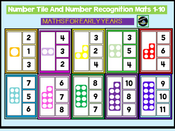 Number Tile And Number Recognition Mats