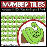 Number Tiles 0-120: Snake clip art {Moveable Pieces}