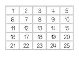 Number Tiles 1-50