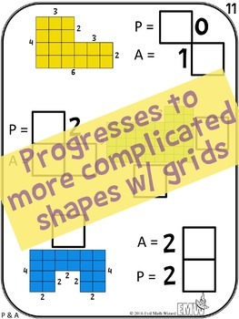Number Tiles Area & Perimeter Square Tile Printed Cards or iPad Puzzles