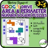 Number Tiles: Area and Perimeter Square Tile Google Drive Puzzles