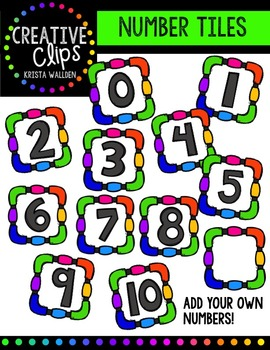 Number Tiles {Creative Clips Digital Clipart}