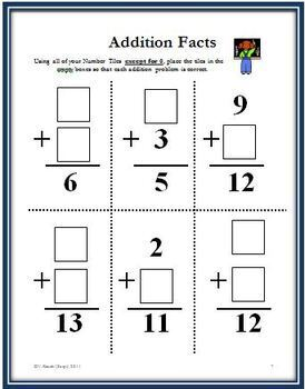 Number Tiles: FREE Problem Solving Activities for the Primary Grades