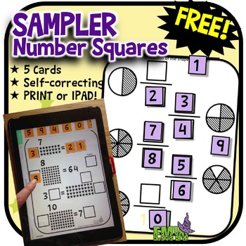 Number Tiles: FREE SAMPLER of 5 puzzles