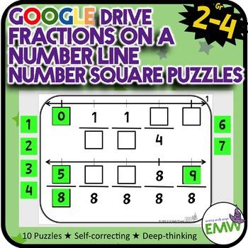 Number Tiles Fraction Number Line Square Tile Google Drive Puzzles