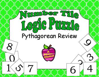 Number Tiles Logic Puzzle Pythagorean Theorem Practice