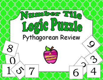 Number Tiles Logic Puzzle Pythagorean Theorem Practice