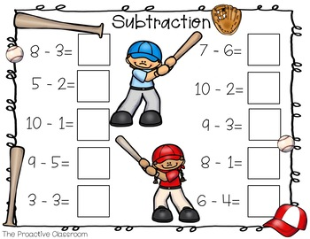Number Tiles / Marcy Cook - Addition and Subtraction to 10