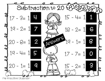 Number Tiles / Marcy Cook - Tiles Addition and Subtraction to 20