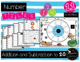Number Tiles- Tiles Addition and Subtraction to 20