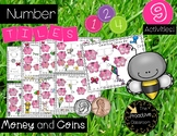 Number Tiles Counting Like and Mixed Coins - Spring Theme