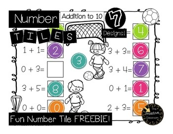 Number Tiles Fun Tiles Freebie!