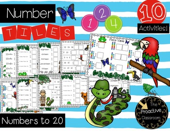 Number Tiles / Marcy Cook Tiles Numbers to 20
