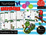 Number Tiles Numbers to 20 - Jungle Theme - Rainforest Theme Math Center