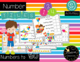 Number Tiles for Numbers to 50 - Carnival Theme