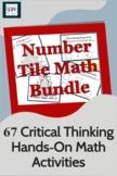 Number Tiles Math Bundle - 57 Problem Solving/Critical Thinking Math Activities
