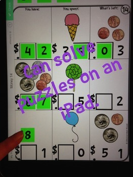 Number Tiles: Money Square Tile Printed Cards or iPad Puzzles!
