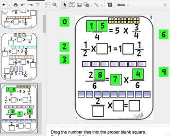 Number Tiles Multiplying Fractions Square Tile Google Drive Puzzles