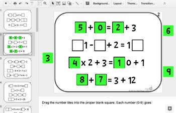 Number Tiles: Order of Operations Square Tile Google Drive Puzzlesy