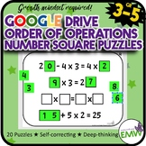Number Tiles Order of Operations Square Tile Google Drive Puzzles