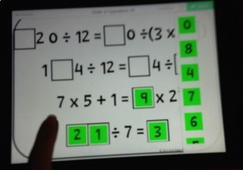Number Tiles: Order of Operations Square Tile Printed Cards or iPad Puzzles!